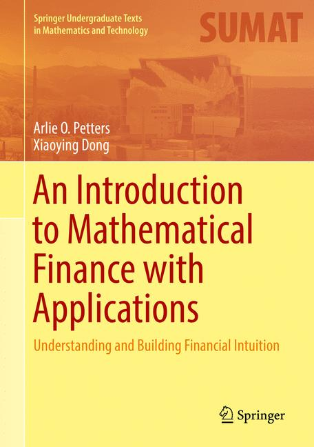 Cover of 'An Introduction to Mathematical Finance with Applications'
