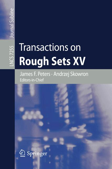 Cover of 'Transactions on Rough Sets XV'