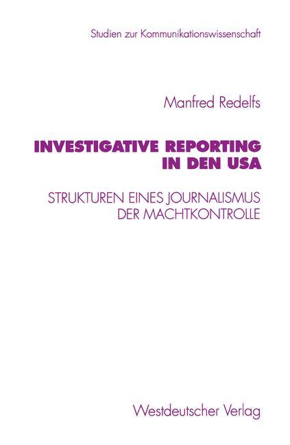 Cover of 'Investigative Reporting in den USA'