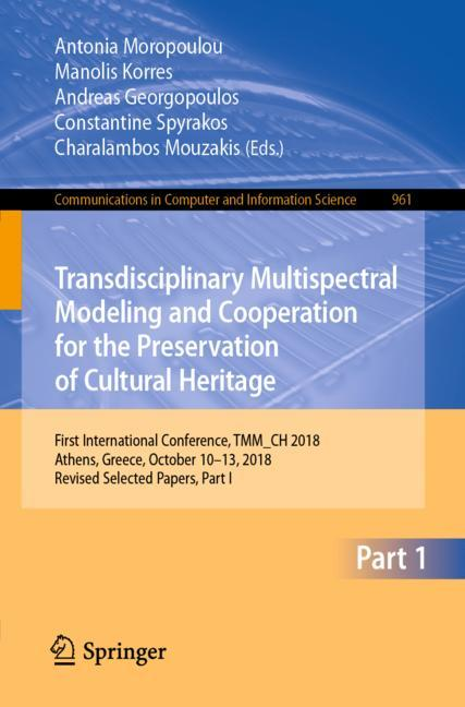 Cover of 'Transdisciplinary Multispectral Modeling and Cooperation for the Preservation of Cultural Heritage'