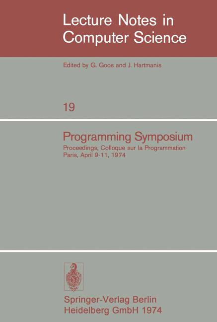 Cover of 'Programming Symposium'