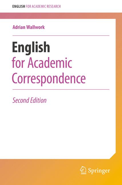 Cover of 'English for Academic Correspondence'