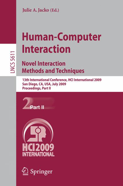 Cover of 'Human-Computer Interaction. Novel Interaction Methods and Techniques'