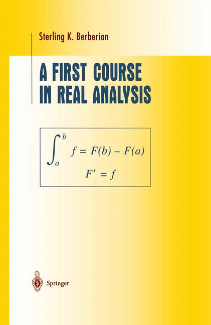 Cover of 'A First Course in Real Analysis'