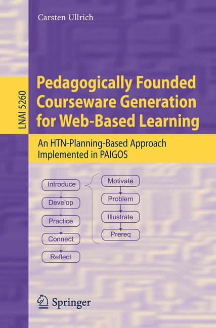 Cover of 'Pedagogically Founded Courseware Generation for Web-Based Learning'