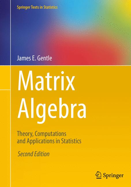 Cover of 'Matrix Algebra'