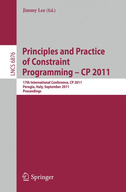 Cover of 'Principles and Practice of Constraint Programming – CP 2011'