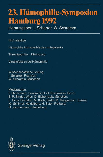 Cover of '23. Hämophilie-Symposion'