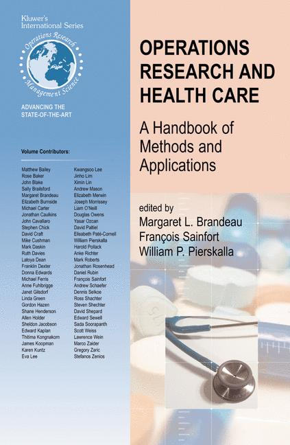 Cover of 'Operations Research and Health Care'