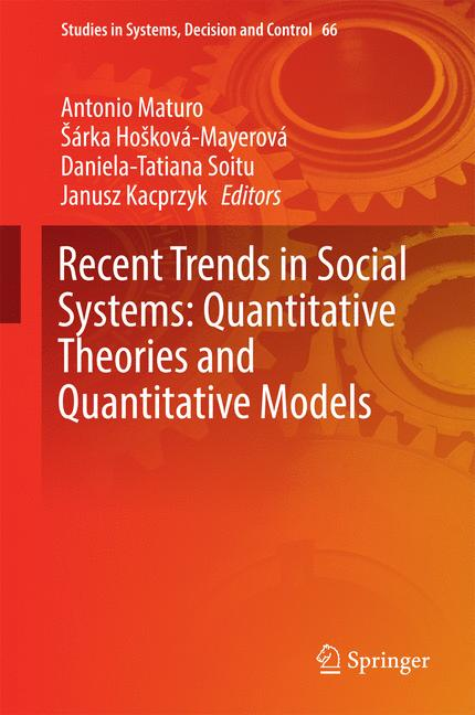 Cover of 'Recent Trends in Social Systems: Quantitative Theories and Quantitative Models'