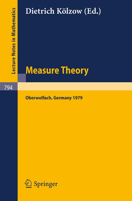 Cover of 'Measure Theory Oberwolfach 1979'