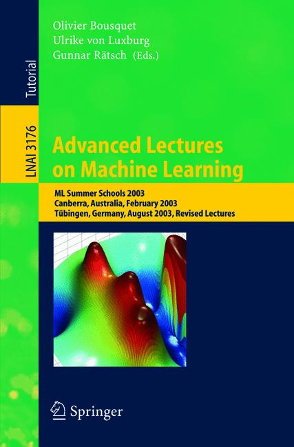 Cover of 'Advanced Lectures on Machine Learning'