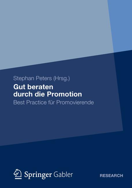 Cover of 'Gut beraten durch die Promotion'