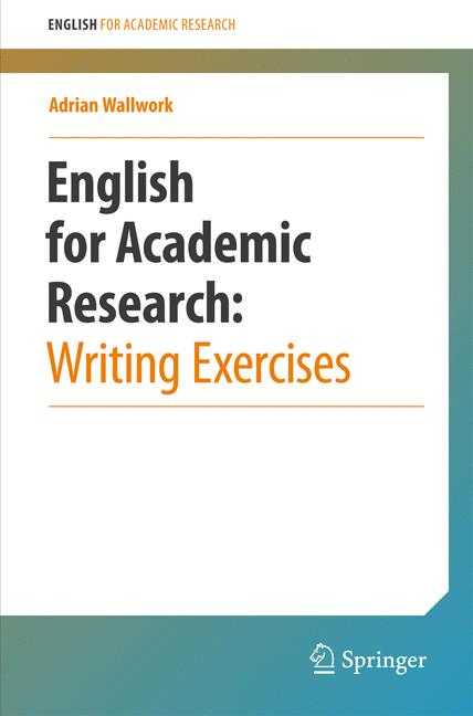 Cover of 'English for Academic Research: Writing Exercises'