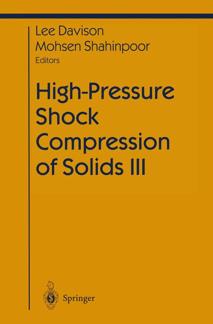 Cover of 'High-Pressure Shock Compression of Solids III'