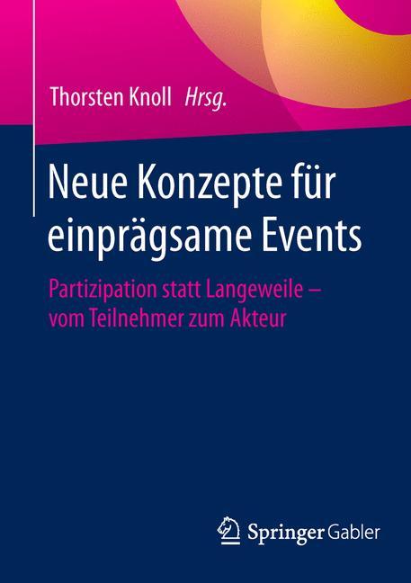 Cover of 'Neue Konzepte für einprägsame Events'
