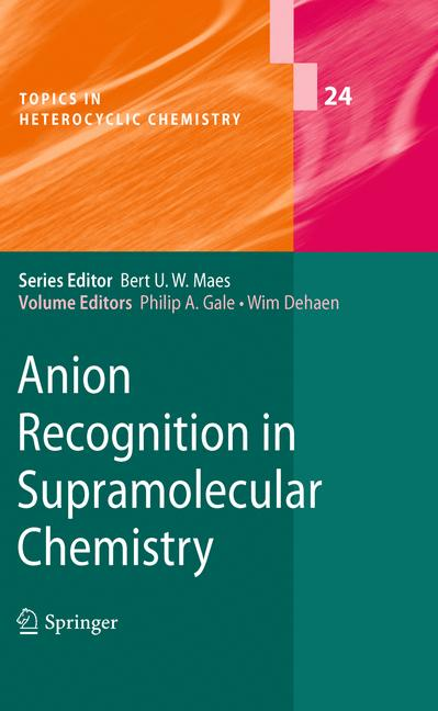 Cover of 'Anion Recognition in Supramolecular Chemistry'