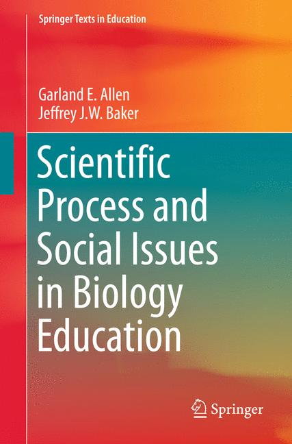 Cover of 'Scientific Process and Social Issues in Biology Education'