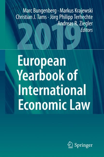 Cover of 'European Yearbook of International Economic Law 2019'