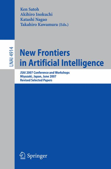 Cover of 'New Frontiers in Artificial Intelligence'