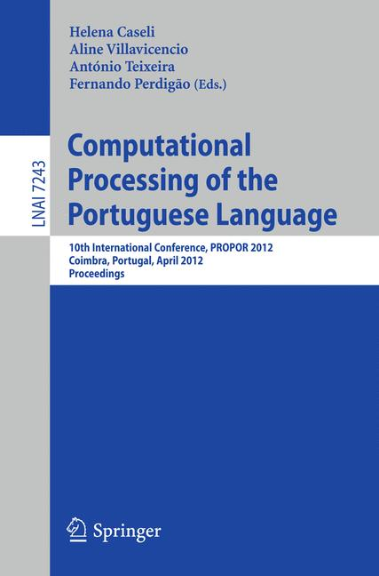 Cover of 'Computational Processing of the Portuguese Language'