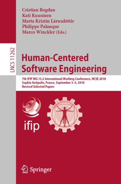 Cover of 'Human-Centered Software Engineering'