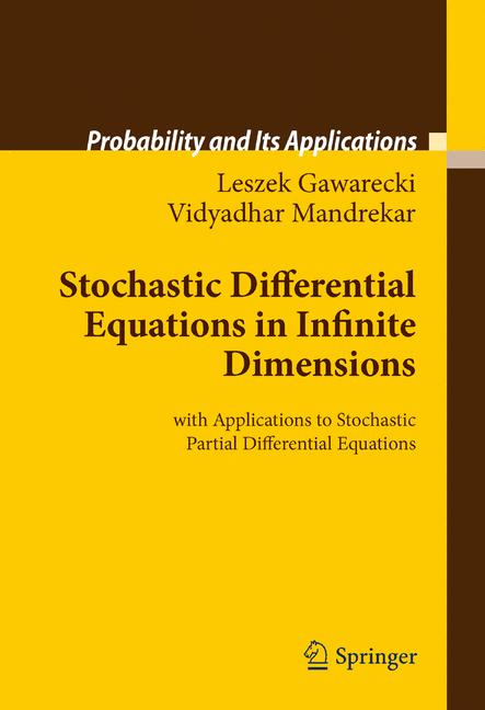 Cover of 'Stochastic Differential Equations in Infinite Dimensions'