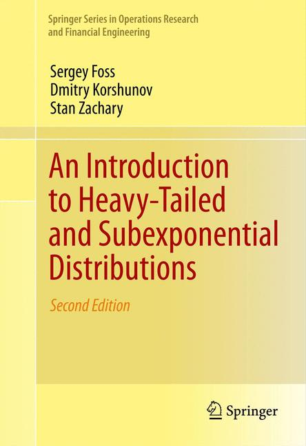Cover of 'An Introduction to Heavy-Tailed and Subexponential Distributions'