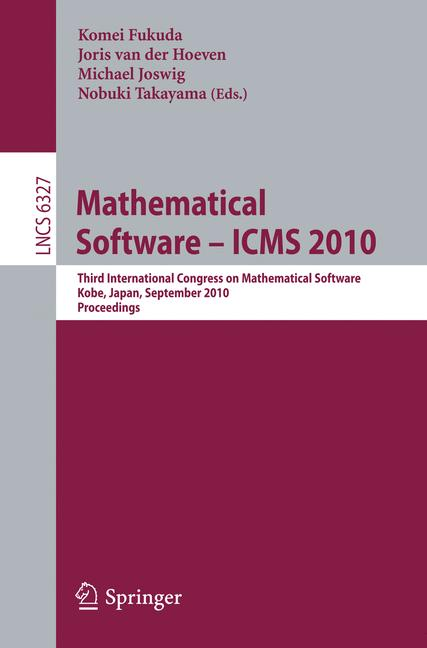 Cover of 'Mathematical Software – ICMS 2010'