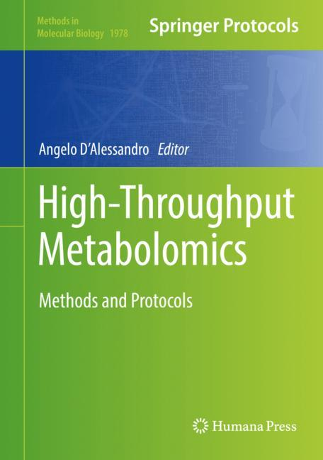 Cover of 'High-Throughput Metabolomics'