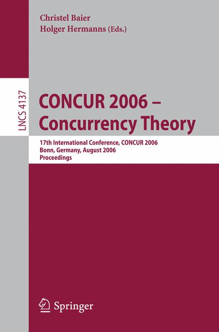 Cover of 'CONCUR 2006 - Concurrency Theory'