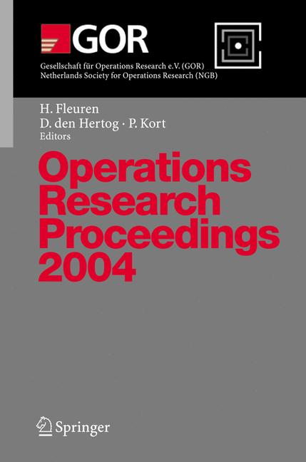 Cover of 'Operations Research Proceedings 2004'