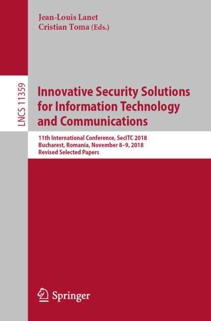 Cover of 'Innovative Security Solutions for Information Technology and Communications'