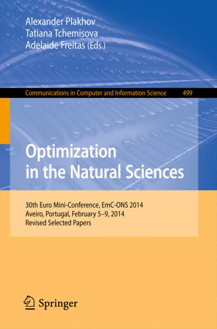 Cover of 'Optimization in the Natural Sciences'