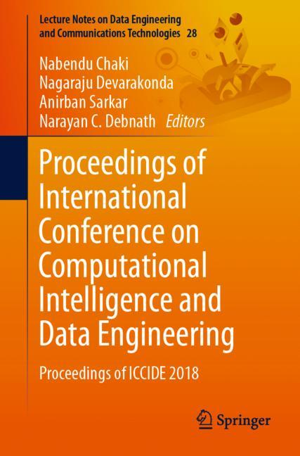 Cover of 'Proceedings of International Conference on Computational Intelligence and Data Engineering'
