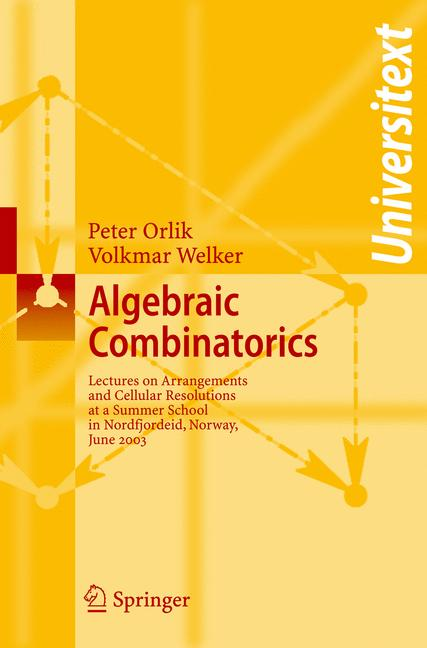 Cover of 'Algebraic Combinatorics'