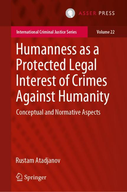 Cover of 'Humanness as a Protected Legal Interest of Crimes Against Humanity'