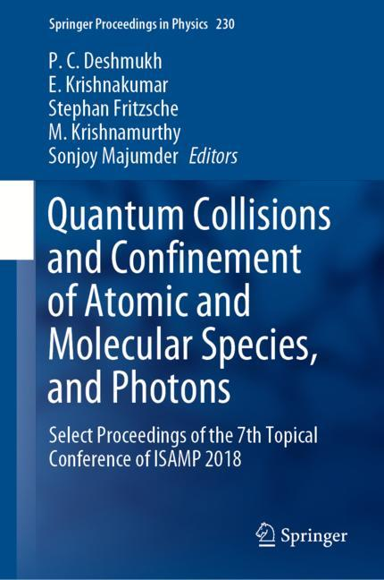 Cover of 'Quantum Collisions and Confinement of Atomic and Molecular Species, and Photons'