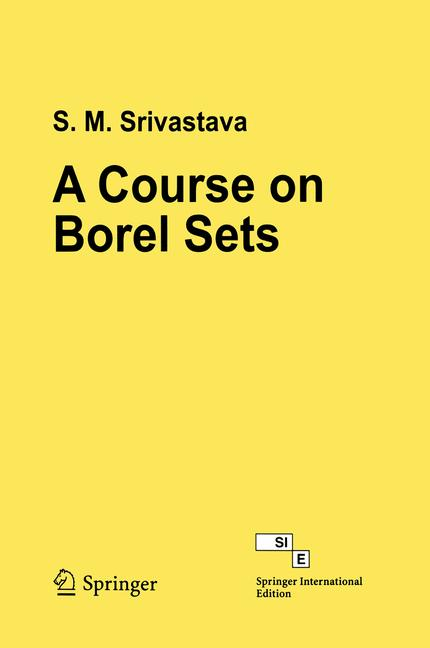 Cover of 'A Course on Borel Sets'