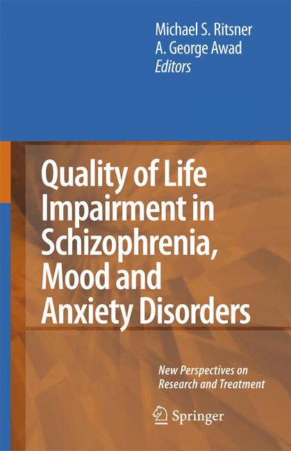 Cover of 'Quality of Life Impairment in Schizophrenia, Mood and Anxiety Disorders'