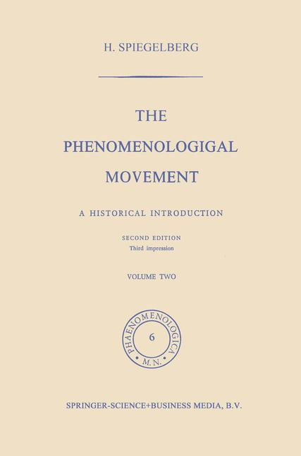 Cover of 'The Phenomenological Movement'