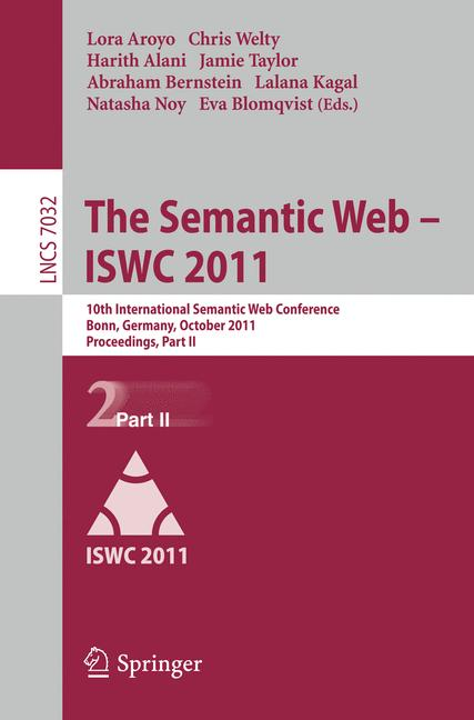 Cover of 'The Semantic Web – ISWC 2011'