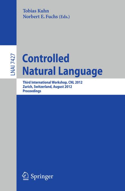 Cover of 'Controlled Natural Language'
