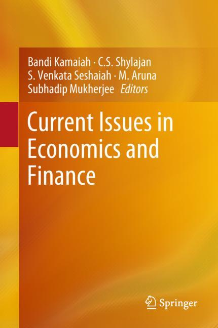 Cover of 'Current Issues in Economics and Finance'