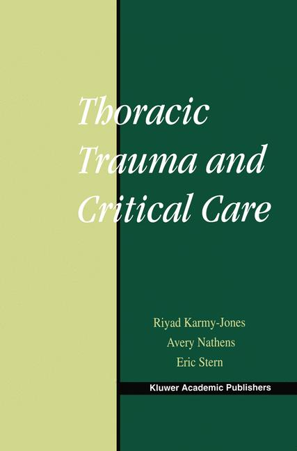 Cover of 'Thoracic Trauma and Critical Care'