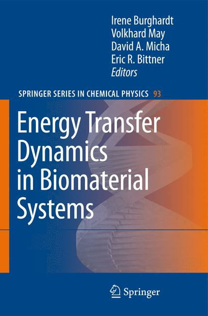 Cover of 'Energy Transfer Dynamics in Biomaterial Systems'
