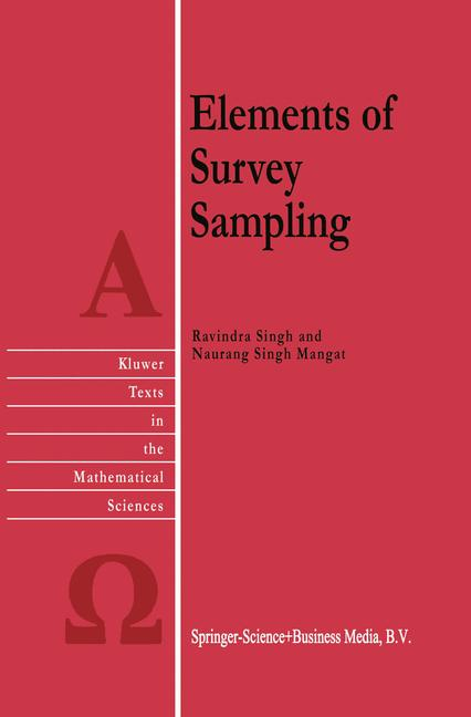 Cover of 'Elements of Survey Sampling'