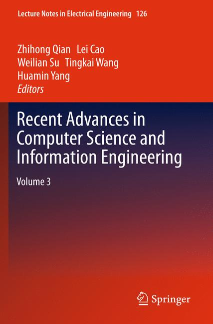 Cover of 'Recent Advances in Computer Science and Information Engineering'