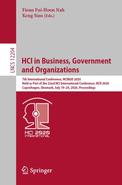 Cover of 'HCI in Business, Government and Organizations'