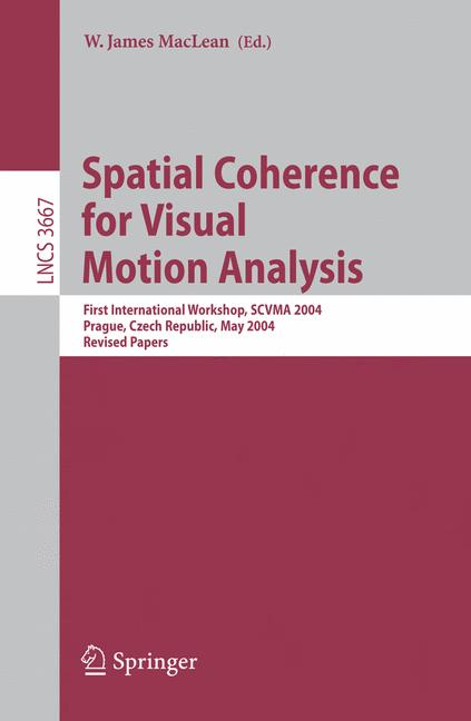 Cover of 'Spatial Coherence for Visual Motion Analysis'